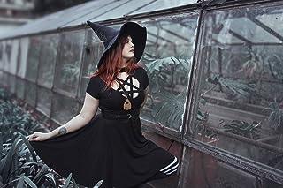 Sombrero de bruja negro de lana dark wicca halloween harry potter disfraz cosplay