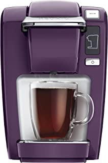 Keurig K15 Coffee Maker, Single Serve K-Cup Pod Coffee Brewer, 6 to 10 Oz. Brew Sizes, Black Plum