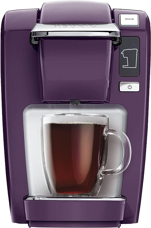 Keurig K15 Coffee Maker Single Serve K Cup Pod Coffee Brewer 6 To 10 Oz Brew Sizes Black Plum