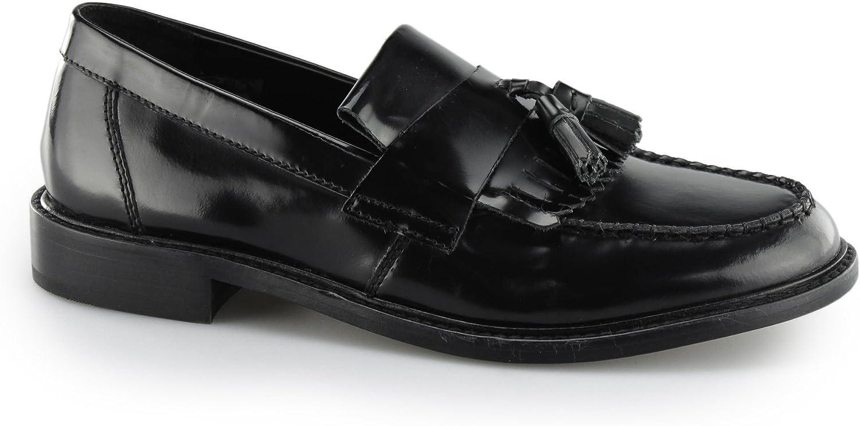 Ikon SELECTA II herr Polerad Läder Tassel Loafers svart svart svart  butik försäljning försäljningsstället