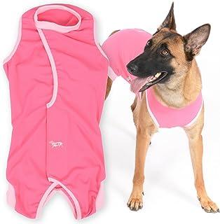 大型犬 女の子用 獣医師と共同開発 エリザベスカラーに代わる 術後服エリザベスウエア カラー:6/ピンク サイズ:B2L