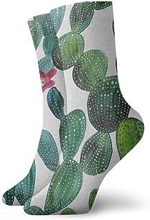 BEDKKJY, Calcetines Deportivos Acuarela Cactus Flower Tropical Vintage Mens Dress Stocking Holiday Calcetín Liquidación para niños