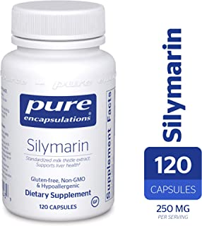 Pure Encapsulations - Silymarin - Hypoallergenic Supplement with Concentrated Milk Thistle Extract for Liver Support* - 120 Capsules