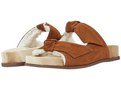 Alexandre Birman Clarita Slide Fur (Syrup/Camel/Natural) Women
