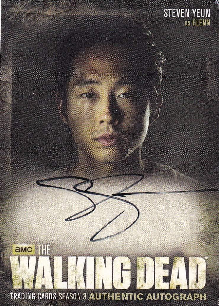 Walking dead cryptozoic 2014 Max 53% OFF Steven Glenn as Card Yeun Superior Autograph