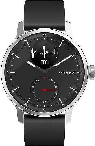Withings Scanwatch Montre Connectée Hybride avec ECG, Fréquence Cardiaque, SPO2 et Suivi du Sommeil