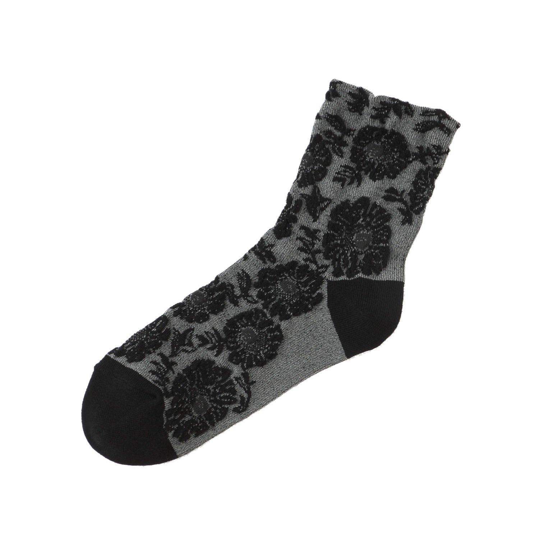 [靴下屋]クツシタヤ お花メランジフロートソックス 22.0~24.0cm 日本製 柄ソックス