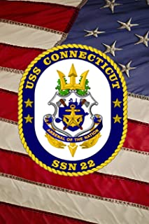 US Navy Submarine USS Connecticut (SSN 22) Crest Badge Journal: Take Notes, Write Down Memories in this 150 Page Lined Journal