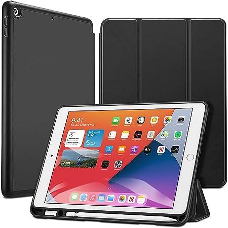 ESR Cover Compatibile con iPad 8/7 10.2 (8a Gen 2020/7a Gen 2019) [Custodia Rigida Sottile Traslucida] [Supporta Smart Keyboard e Smart Cover] Serie Ascend – Nero
