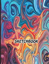 Sketchbook: Notebook for Drawing, Writing, Painting, Sketching or Doodling, 120 Pages, 8.5x11 (Premium Abstract Cover vol.4)