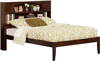 Atlantic Furniture Newport Platform Bed with Open Foot Board, Full, Walnut
