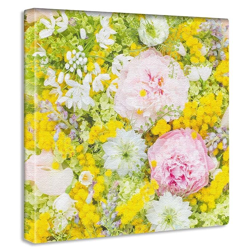 活気づけるグレートオーク膨張するアートデリ ポスター パネル 花 30cm × 30cm 竹内陽子 日本製 軽量 ファブリック yt-300-yellow-005
