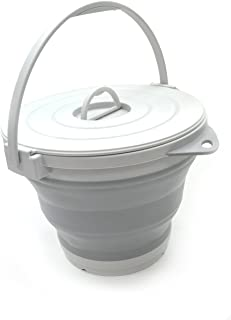small bucket with lid and handle