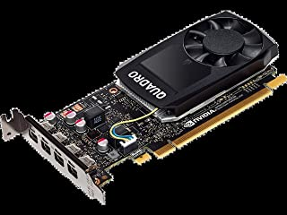 HP Tarjeta gráfica NVIDIA Quadro P10004GB–Tarjetas gráficas (NVIDIA, Quadro P1000, 5120x 2880Pixeles, 4GB, GDDR5, 128bit)