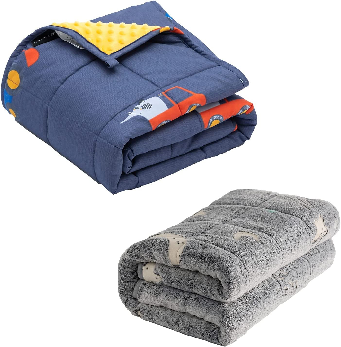 Kids Manufacturer direct delivery Weighted Blanket 5 lbs Cozy Fleece Ranking TOP2 with Minky Cotton Sided