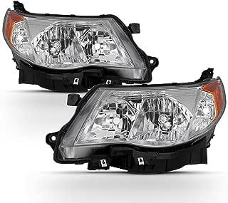 ACANII - For 2009 2010 2011 2012 2013 Subaru Forester Halogen Headlights Headlamps w/Bulbs Driver + Passenger Side