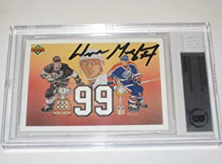 WAYNE GRETZKY Signed 1991-92 Card #38 Beckett Authenticated & Slabbed - Upper Deck Certified - Hockey Slabbed Autographed Rookie Cards