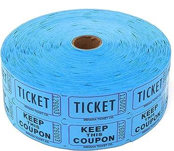 Blue Double Raffle Ticket Roll 2000
