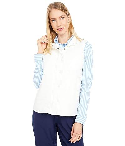 Southern Tide Cobie Puffer Vest (White Alyssum) Women