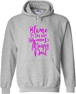 Karma t shirts Blame It On My Jeepsy Soul   Jeep Lovers   Pink Design   Womens Hoodies