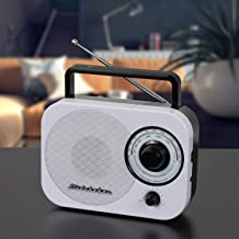 Studebaker AM/FM Radio Retro Classic SB-2000 White/Black Portable AM/FM Radio with Aux Input Limited (Edition Color)