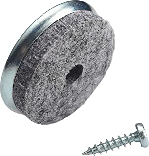 Screw on Furniture Felt Pads Slides Gray for Wooden Chair Legs -FURNIGEAR Best Wood Floor Protectors Protect Your Hardwood & Laminate Flooring (20 Pieces 1-3/8