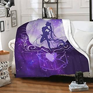 """Soft Blanket, 40""""x50""""/50""""x60""""/60""""x80"""" Throw Suitable for Sofa or Bed (Purple, 130x150cm)"""