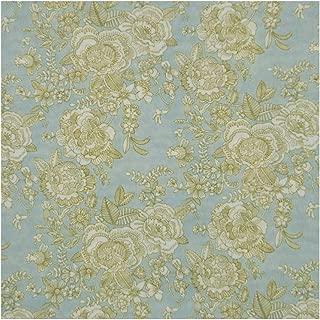 Aqua & Green Floral 'Cambridge Lace' Liberty Lawn Cotton Handkerchief