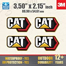 "CAT Stickers Decals Hard Hat Toolbox Diesel Bull Dozer Escavator Backhoe 2/"" Pair"