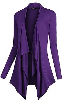 b77d37632b Urban CoCo Women s Drape Front Open Cardigan Long Sleeve Irregular Hem