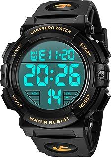 Orologi, orologio digitale da uomo, cronografo sportivo impermeabile da esterno 50M per uomo con retroilluminazione a LED ...