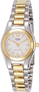 Casio 19373 ltp-1253sg-7 a Clock – Lady Quartz Bracelet Metallic Dial White