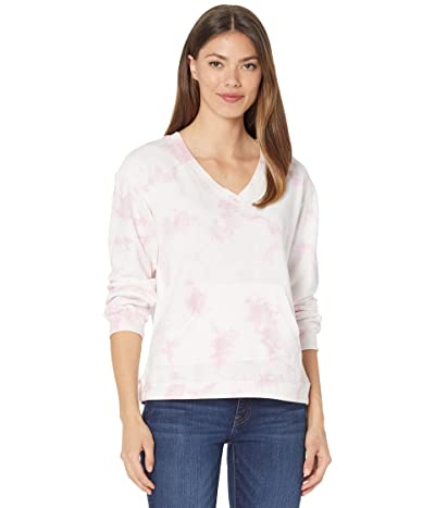 Vince Camuto Long Sleeve V-Neck Tie-Dye Top