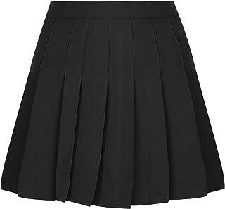 IEFIEL Falda Plisada Mujer Mini Falda Escolar Falda Corta Colegiala Uniforme Falda Escocesa Cintura Alta Elástica para Chicas