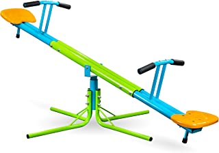 Pure Fun Heavy Duty 360 Kids Swivel Seesaw, Indoor or Outdoor, Ages 4+