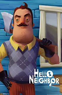 Trends International Hello Neighbor-Axe Mount Wall Poster, 22.375