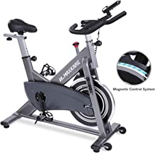 MaxKare Magnetic Exercise Bike Belt Drive Stationary Indoor Cycling Bike with High Weight Capacity Adjustable Magnetic Res...