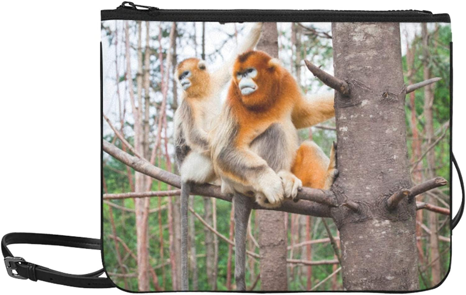Color Crossbody Bags Cute Smart Monkeys 2021 spring and summer new Should Adjustable Gorgeous Golden