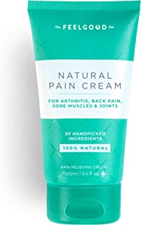 Natural Pain Cream by The Feel Good Lab – 100% Natural, Clean Ingredients - Pain and Soreness Relief for Muscles, Joints & Arthritis (3.4oz, 1 Count)