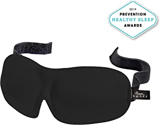 Bucky 40 Blinks Ultralight & Comfortable Contoured, No Pressure Eye Mask for Travel & Sleep, Perfect with Eyelash Extensions - Black