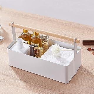 Cosmetische Opbergdoos, Metalen Make-updoos, Met Draagbaar Handvat Desktoporganizer, Voor Sieradenaccessoires En Huidverzo...
