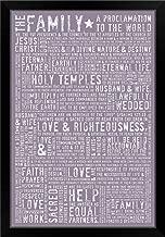 CANVAS ON DEMAND Family Proclamation - Lavender Black Framed Art Print, 23