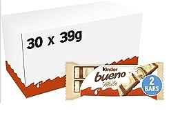 Ferrero kinder bueno White – Schokoriegel mit wei?er Schokolade – 30 Packungen mit je 2 Einzelriegeln (30 x 40 g)
