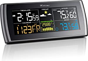 Wittime 2101 Weather Station Wireless Indoor Outdoor Thermometer, Weather Thermometer with 7.5