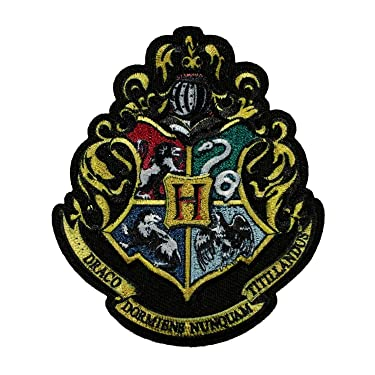 Harry Potter Hogwarts Crest Patch Wizard School Embroidered Iron On Applique