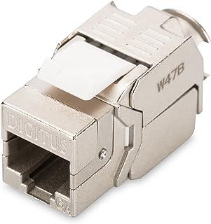 DIGITUS Keystone-module Cat-6A afgeschermd - RJ45-bus - 500 MHz 10GBase-T - AWG 26-22 - Montage zonder gereedschap