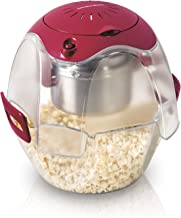 Hamilton Beach 73310 Electric Theater Style Party Popcorn Popper Machine, 6 to 24 Cups, Base Doubles as Serving Bowl, Nests for Easy Storage, Red (Discontinued)