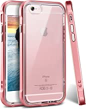 iPhone 6s Plus Case, Ansiwee Reinforced Frame Crystal Highly Durable Shock-Absorption Flexible Soft Rubber TPU Bumper Hybrid Protective Case for Apple iPhone 6s/6 Plus 5.5inch (Rose Gold)