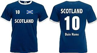 Schottland Retro Trikot mit Wunschname & Nummer Shirt von S-XXXL