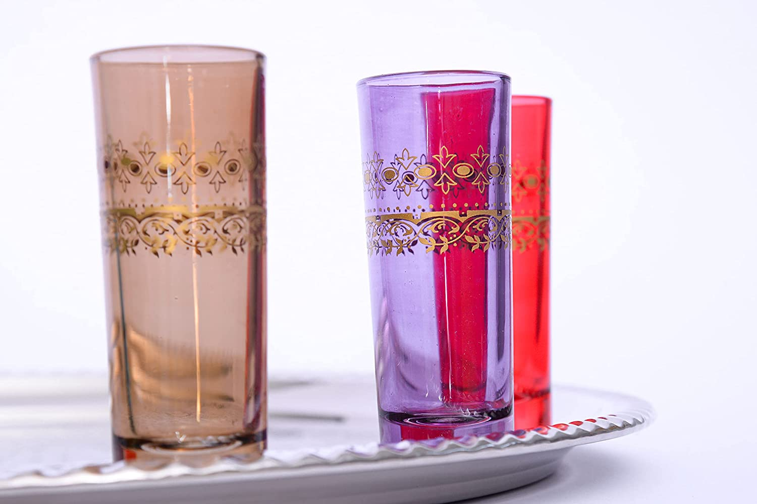 Traditional Moroccan Tea Coffee Glass Glasses Of 6 Set Max 76% OFF Colored trend rank
